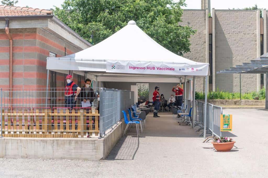 Inaugurazione hub vaccinale CSP